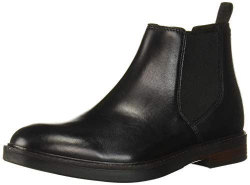 Clarks Men's Paulson Up Chelsea Boot, Black Leather, 100 M US