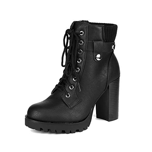 DREAM PAIRS Women's Scandl Black High Heel Ankle Bootie Size 5.5 B(M) US