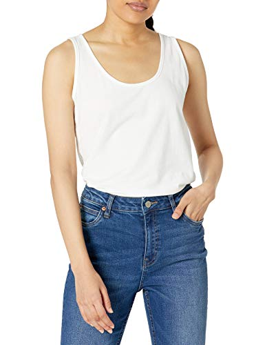 Hanes Women's Scoop-Neck White Tank Top