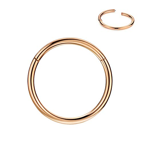 Small Hoop Nose Ring 20g 7mm Cartilage Earring Hoop Rose Gold Plated Nose Ring Nose Rings 20 Gauge Helix Hoop Earring Forward Helix Earring Daith Earrings Tragus Earrings Surgical Steel Hoop Earrings 7mm Nose Hoop Piercing Jewelry