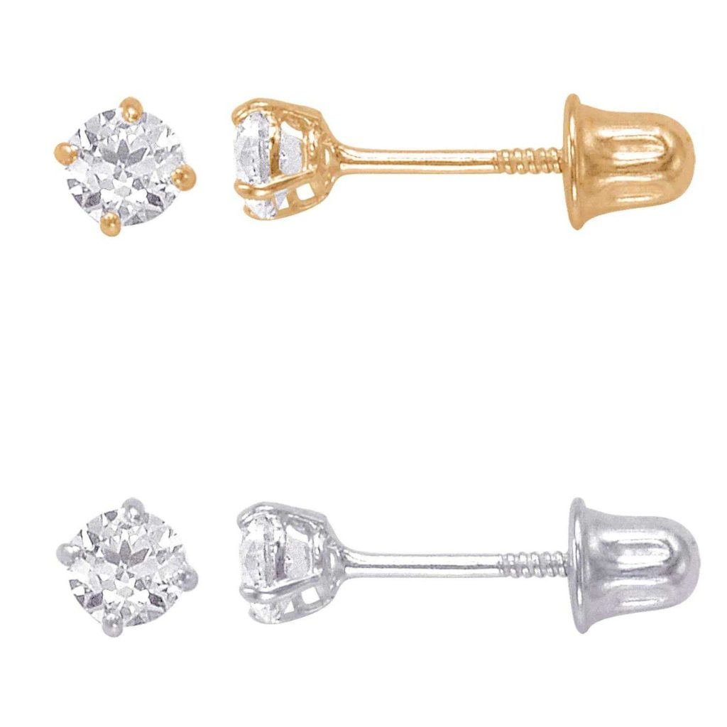 Example of the screw post earring back type.