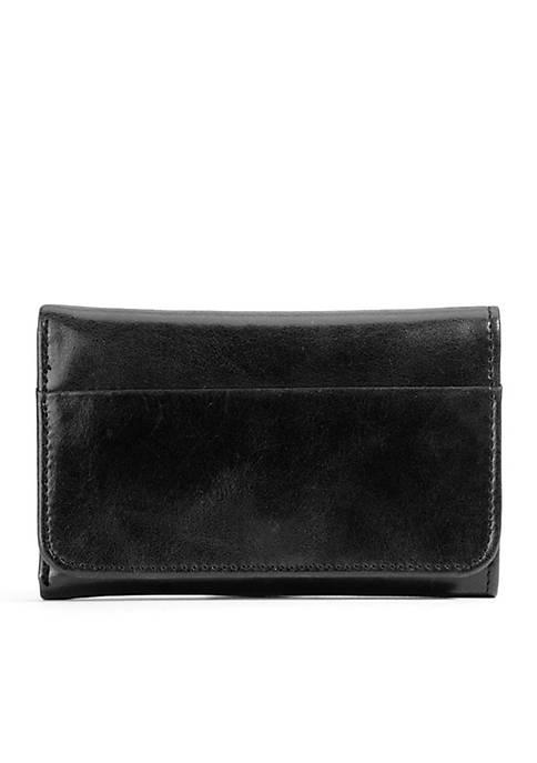 Black wallet for women designed by Hobo Jill.