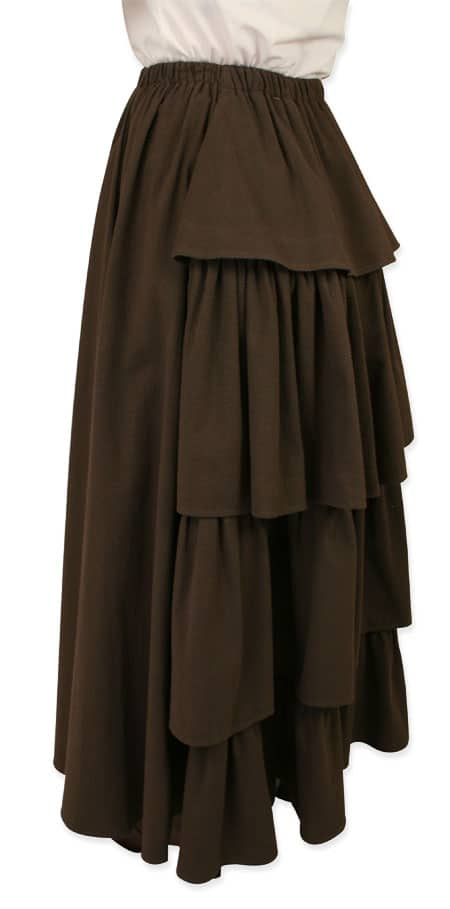 An example of a type of bustle skirt.