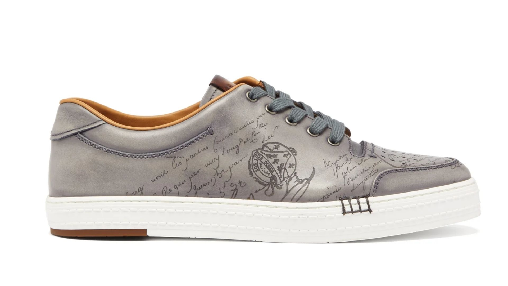 Gaspard Scritto Smooth-Leather Trainers – $1,340