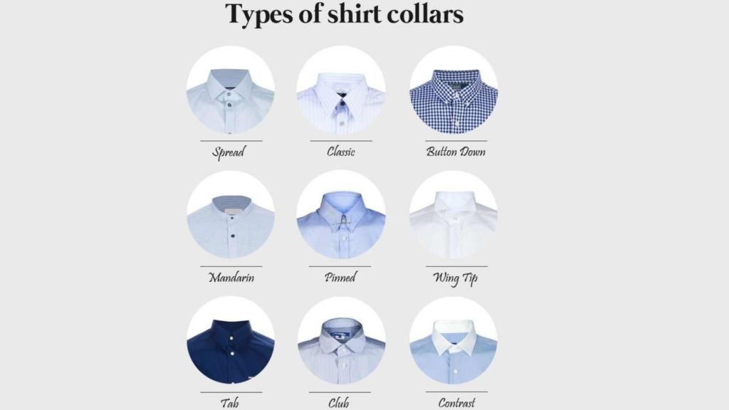 Types of Shirt Collars Chart